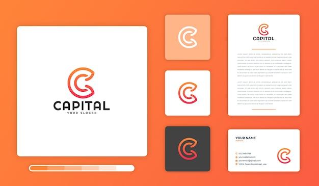 Capital logo ontwerpsjabloon