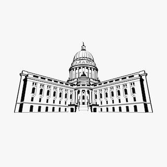 Capitol dome logo design inspiratie