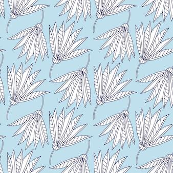 Capricieus bloemen naadloos patroon. afdrukbaar ontwerp voor textiel.