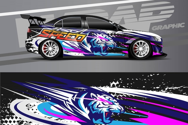 Car decal wrap illustratie