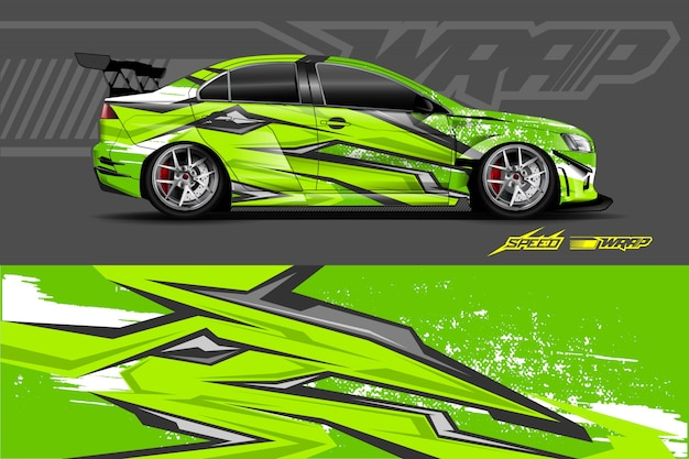 Car decal wrap illustratie