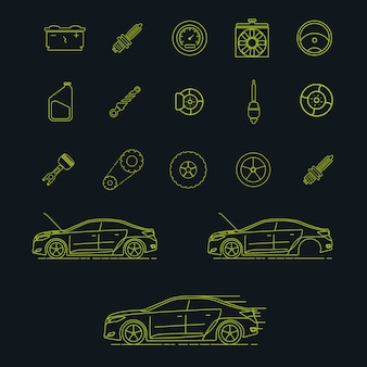 Car elementen collectie