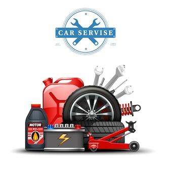 Car service center accessoires samenstelling