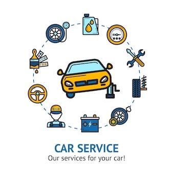 Car service illustratie