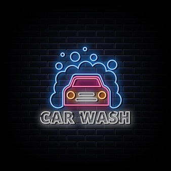 Car wash logo neonreclames