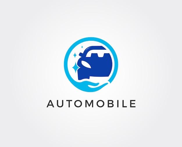 Car wash logo ontwerpsjabloon