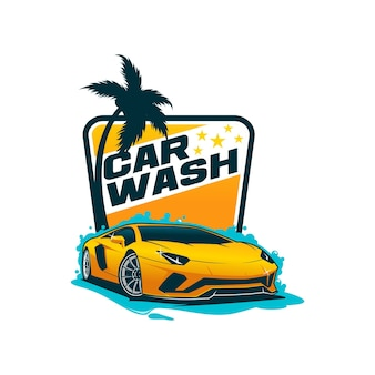Car wash logo sjabloon