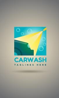 Car wash logo sjabloonontwerp