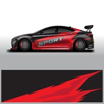 Car wrap ontwerpen vector achtergrondafbeelding bestand klaar om af te drukken en bewerkbaar eps 10