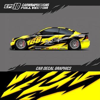 Car wrap ontwerpen voor raceauto