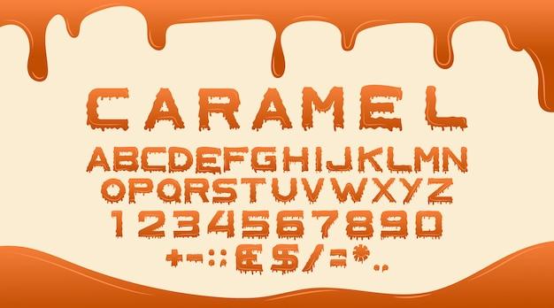Caramel lettertype