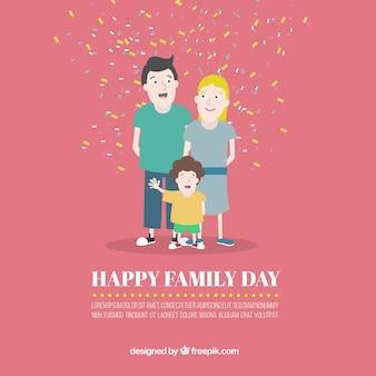 Card van de familie dag