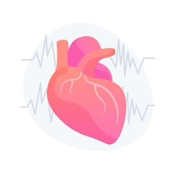 Cardiologie kliniek, afdeling ziekenhuis. gezond hart, cardiovasculaire preventie, idee-ontwerpelement voor de gezondheidszorg. elektrocardiogram, ecg. vector geïsoleerde concept metafoor illustratie