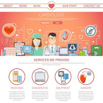 Cardiology flat page