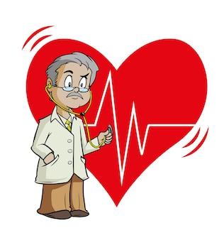 Cardioloog arts met veel ervaring met het evalueren van de hartkloppingen