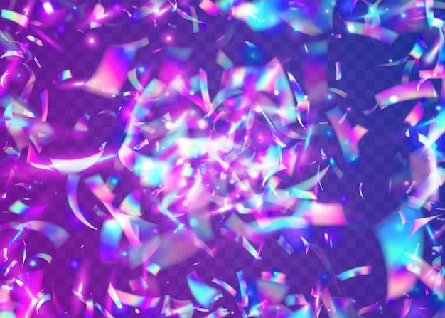 Carnaval achtergrond. licht schittering. feest kunst. glanzende gloed. roze discotextuur. transparante glitters. feest realistisch behang. webpunk folie. blauwe carnaval achtergrond