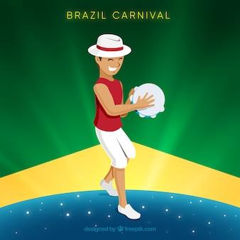 Carnaval achtergrond met man