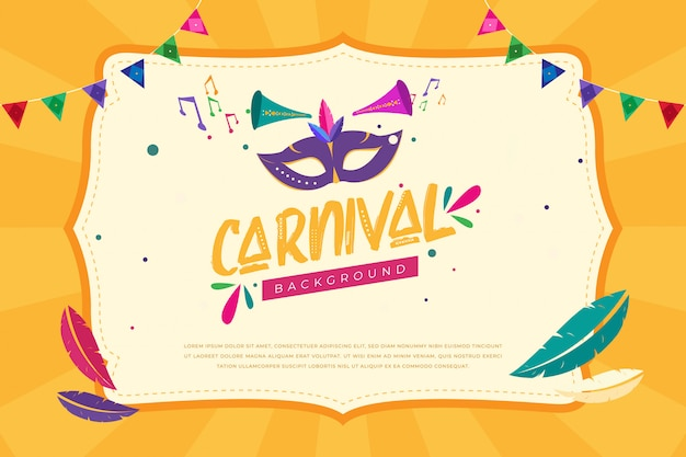 Carnaval achtergrond sjabloon