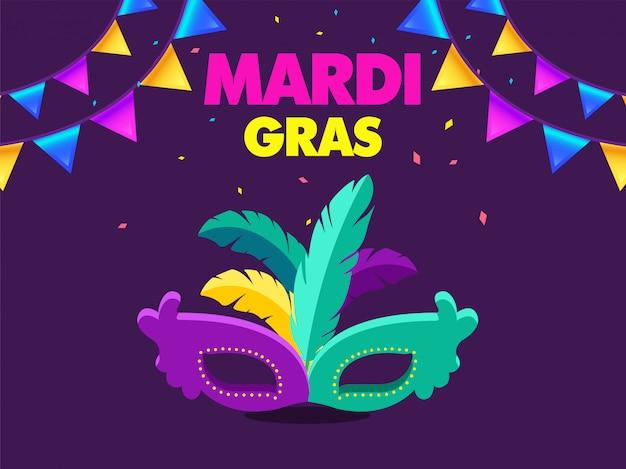 Carnaval-banner van venetië voor mardi gras