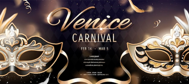 Carnaval-banner van venetië