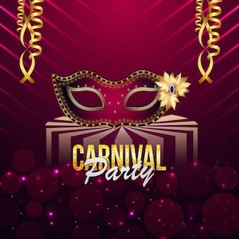 Carnaval brazilia party wenskaart of poster met circustent huis
