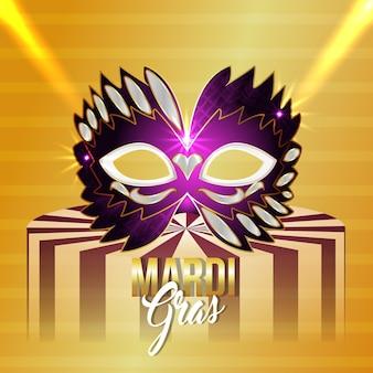 Carnaval brazilië evenement en achtergrond met creatief masker