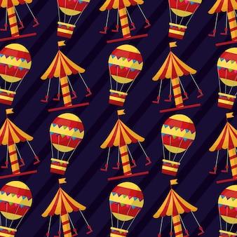 Carnaval carrousel luchtballon grappig patroon