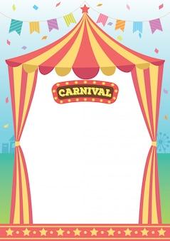 Carnaval circus sjabloon