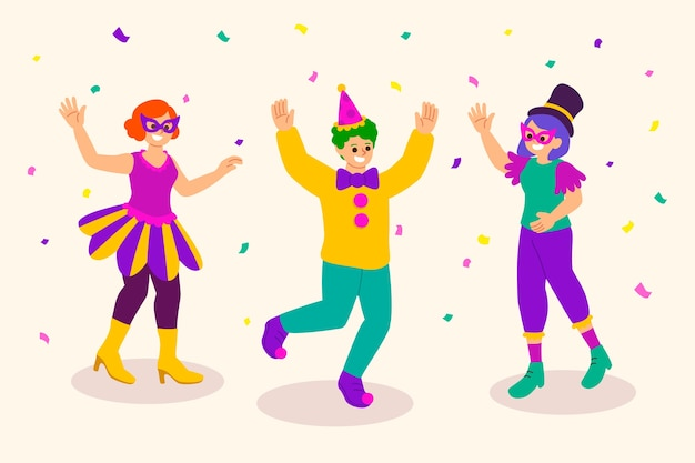 Carnaval dansers collectie thema