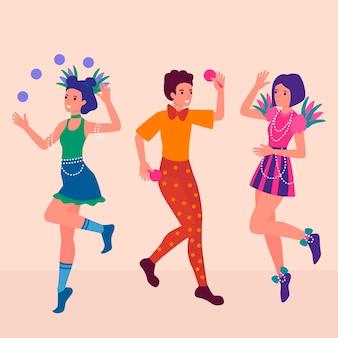 Carnaval dansers collectie
