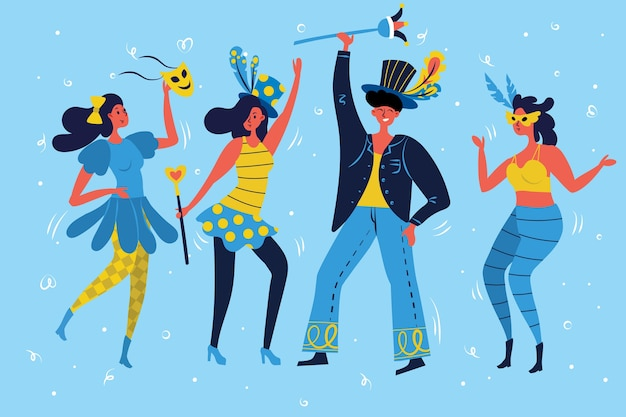 Carnaval dansers collectie