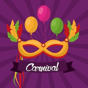 Carnaval feestelijke kaart