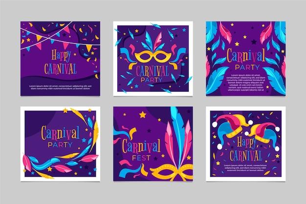 Carnaval feestposten ingesteld
