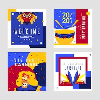 Carnaval feestthema voor instagram-berichten