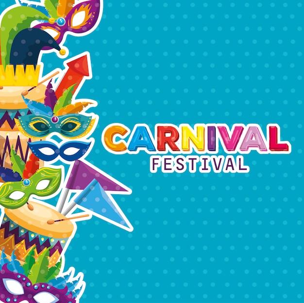 Carnaval feestviering met traditionele festivaldecoratie