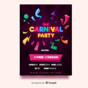 Carnaval feestvlieger