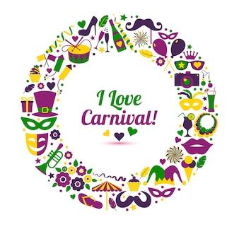 Carnaval illustratie