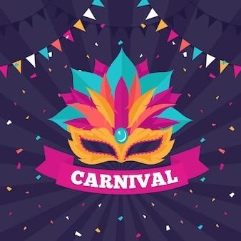 Carnaval in plat ontwerp