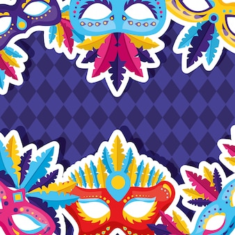 Carnaval masker achtergrond