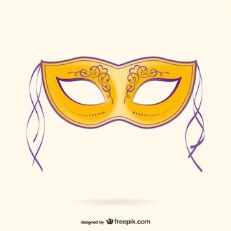 Carnaval masker illustratie