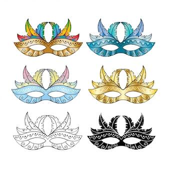 Carnaval masker set