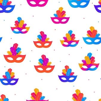 Carnaval naadloze patroon achtergrond