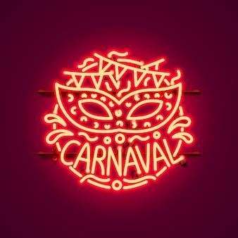 Carnaval neonreclame, kleur rood.