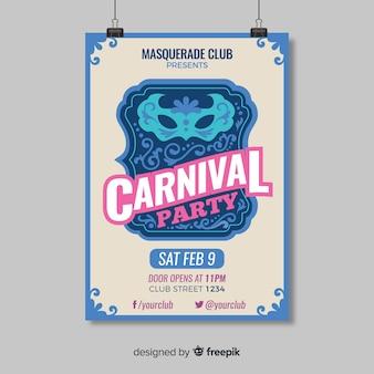 Carnaval partij flyer sjabloon