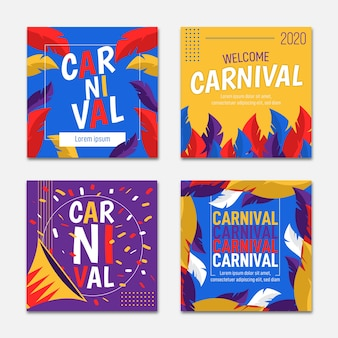 Carnaval partij instagram post set