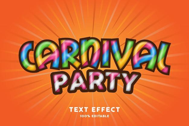 Carnaval partij teksteffect