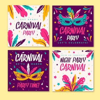 Carnaval party instagram postverzameling