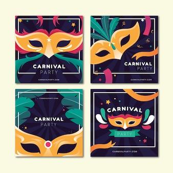 Carnaval party instagram postverzameling