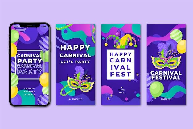 Carnaval party instagram verhalencollectie