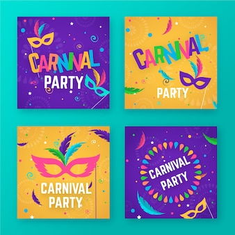 Carnaval party posts collectie
